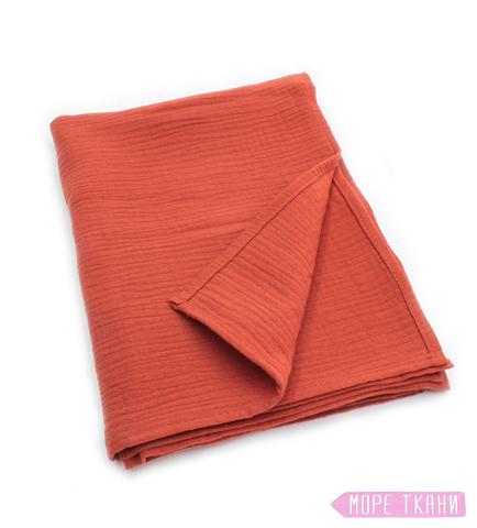 Муслиновая пеленка 2 слоя, терракот (95х130)