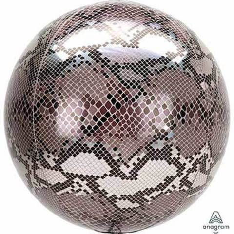 Шар 3D сфера 40см Змеиная кожа Сафари