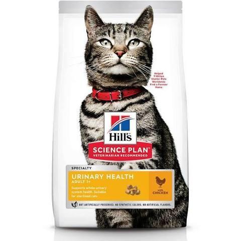Сухой корм Hill's Science Plan Urinary Health для взрослых кошек, склонных к мочекаменной болезни, с курицей, 7 кг