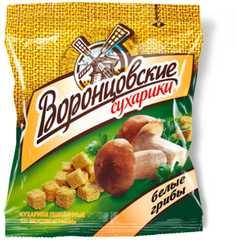 """Сухарики """"Воронцовские"""" со вкусом белых грибов 80г"""