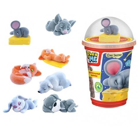 PLAY ME СОНИ-ЗАСОНИ Шоколадные шарики с игрушкой 1кор*2бл*8шт, 50г.