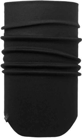 Шарф непродуваемый с маской на лицо Buff Neckwarmer Windproof Solid Black фото 1