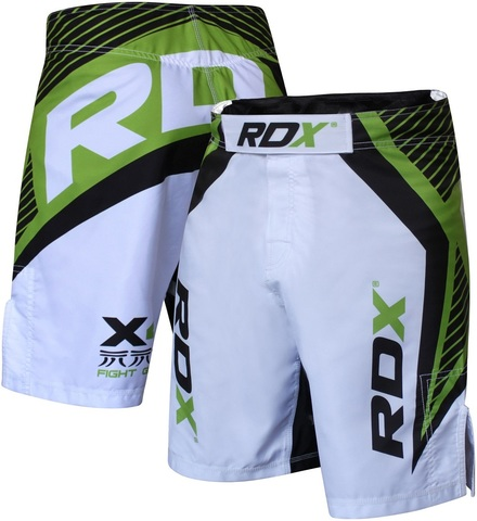 Шорты RDX Shorts MMA Men's X4 Grappling Short (White/Green) &