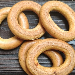 Сушки медовые цельнозерновые без сахара 150 гр.