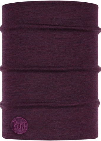 Теплый шерстяной шарф-труба Buff Wool heavyweight Purplish Multi Stripes фото 1