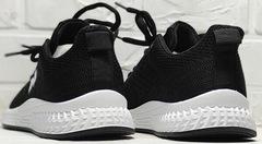 Женские летние кроссовки черные белая подошва Fashion Leisure QQ116.