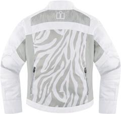 Мотокуртка - ICON HELLA 2 (женская, текстиль, белая)
