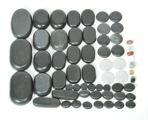 Камни для стоунтерапии (базальт) 60шт - фото