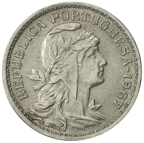 50 сентаво Португальская Республика (1911-1969) 1967 год, Португалия. aUNC