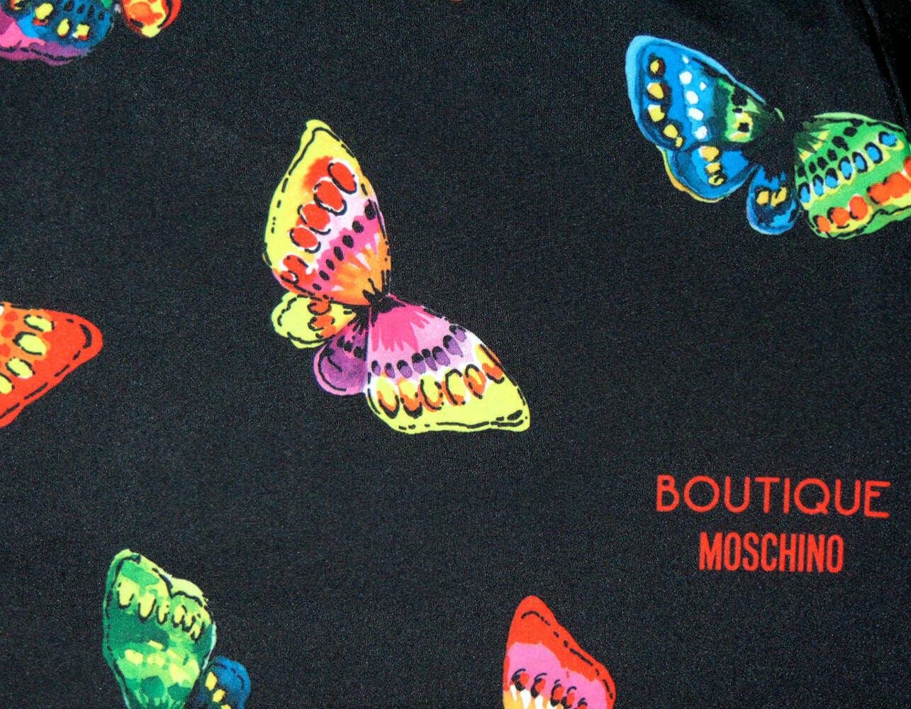 Зонт складной Moschino 7078-А Butterflies nero