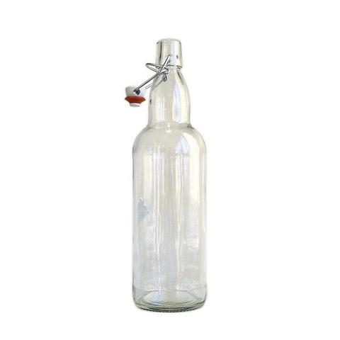 Бутылка бугельная с пробкой,бесцветное стекло 0,5л,1х12
