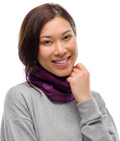 Теплый шерстяной шарф-труба Buff Wool heavyweight Purplish Multi Stripes фото 2