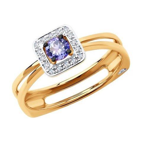 6014074 - Кольцо из золота с бриллиантами и танзанитом