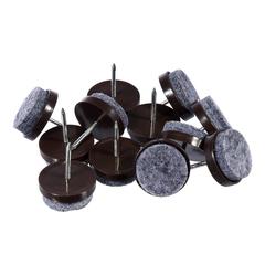 Протекторы  для мебели, войлок на гвоздях, 22 мм, 12 шт