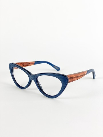 Оправа Spunky — Cat Eye 5 blue wood