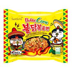 Лапша пшеничная Samyang Hot Chicken Flavor Ramen Bouldak Corn со вкусом острой курицы и кукурузы 130 гр
