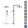 Душевая система с термостатом и тропическим душем для ванны TZAR 345402RK300N - фото №2