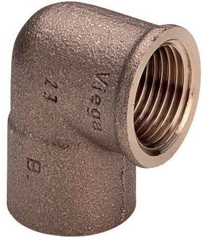 Viega угольник бронзовый 28х1