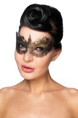 Золотистая карнавальная маска  Авиор