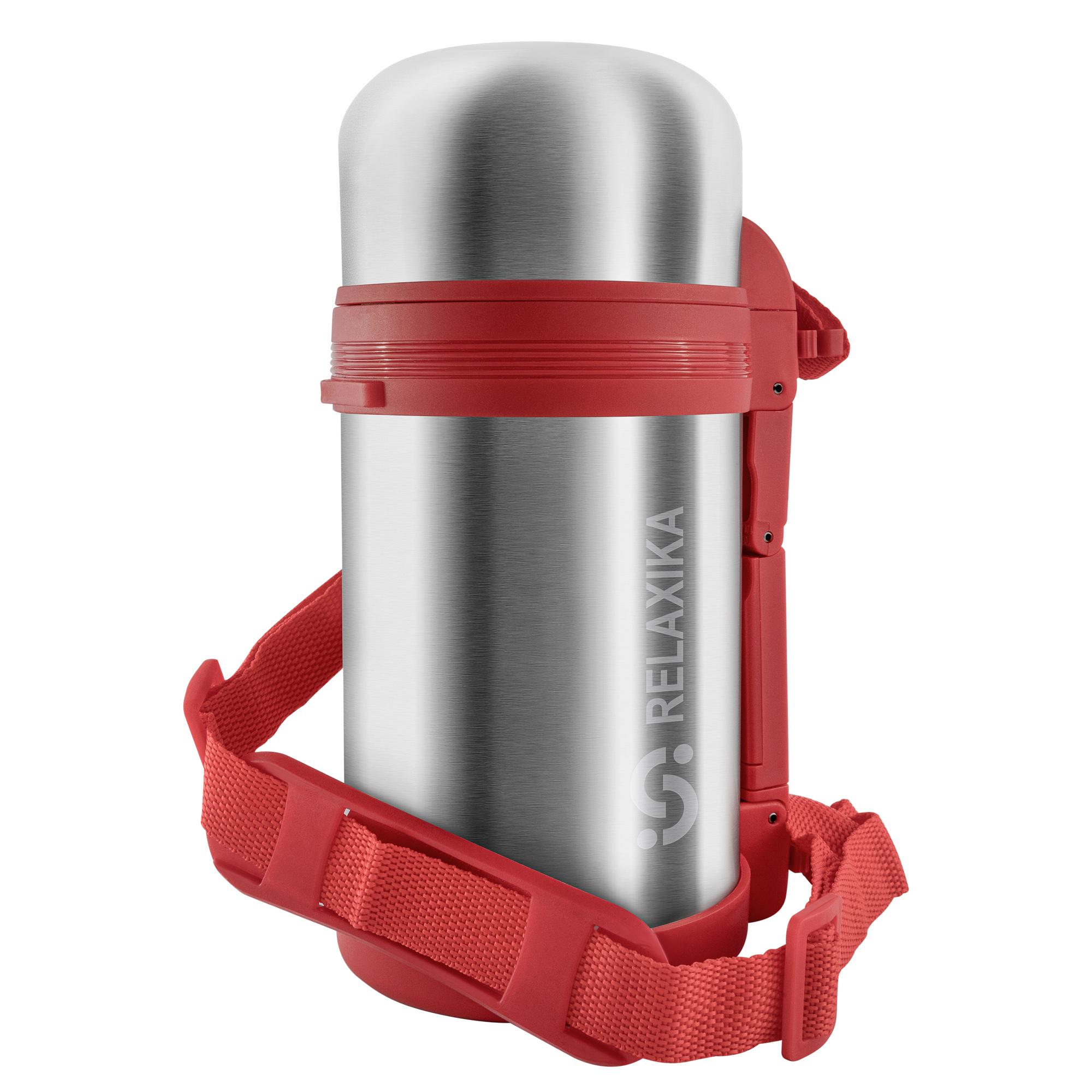 Термос универсальный (для еды и напитков) Relaxika 201 (1 литр), стальной