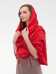 Шарф женский красный aksisur теплая пашмина 037