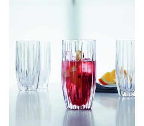 Набор из 4 высоких хрустальных стаканов Prestige, 325 мл