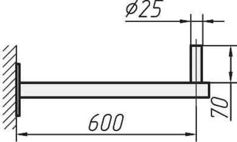 Кронштейн 0,6 м