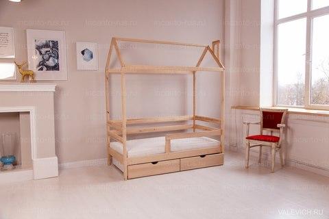 Кроватка-домик  Incanto  «Dream Home Karelian pine » без ящиков, цвет натуральный