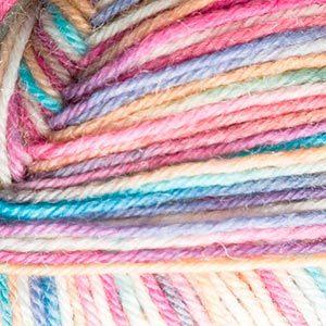 Пряжа Schachenmayr Regia 4-fadig Color 05025 белый/бирюзовый/розовый/светло-желтый