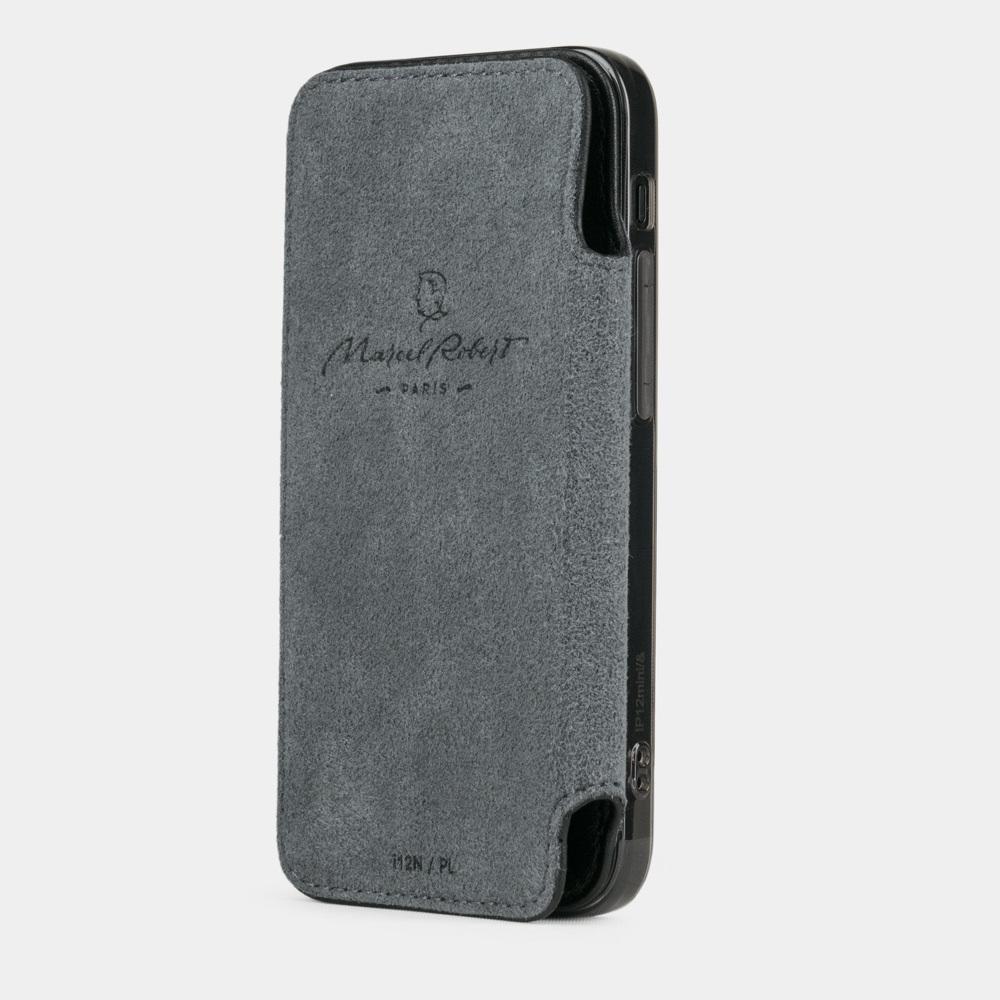 Чехол Benoit для iPhone 12 Mini из натуральной кожи теленка, черного цвета