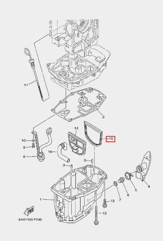 Прокладка поддона для лодочного мотора F20 Sea-PRO (22-15)