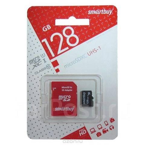 Карта памяти Smart Buy microSD 128GB Class 10 с адаптером