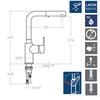 Смеситель для кухни с выдвижной лейкой RS-Q 931902H1 - фото №2