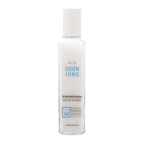 Etude House Успокаивающая эмульсия для чувствительной кожи Soon Jung 10-Free Moist Emulsion, 120 мл
