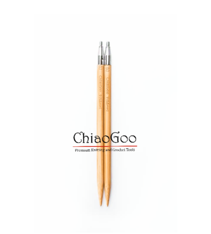 Спицы ChiaoGoo съемные бамбуковые  10 см 3.5мм