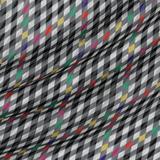 Тонкий шёлковый жаккард в цветные ромбы