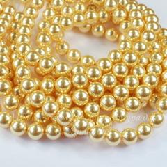 5810 Хрустальный жемчуг Сваровски Crystal Gold круглый 8 мм , 5 шт