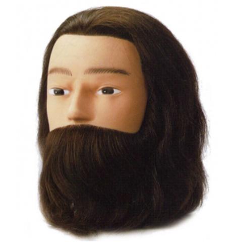 Голова учебная KARL с усами и бородой