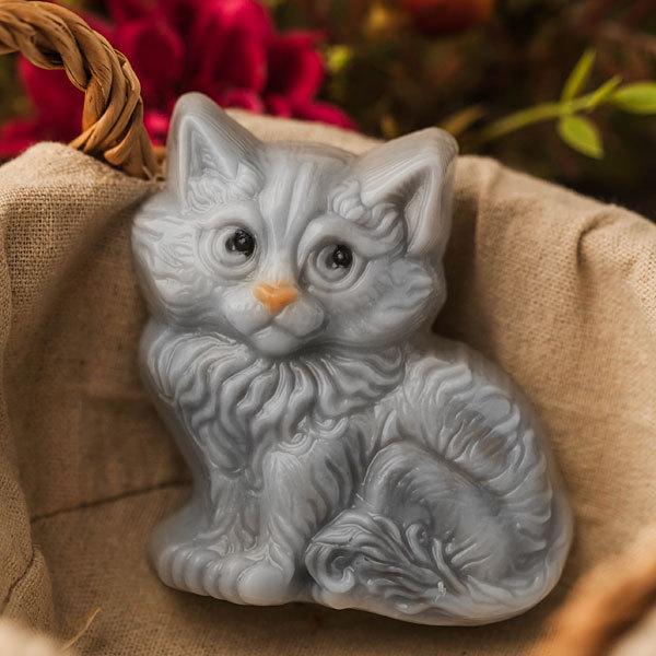 Форма для мыловарения Сидящий котенок