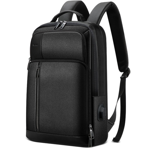 Рюкзак городской BOPAI 851-036611 нат.кожа чёрный