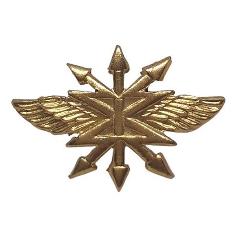 Эмблема петличная Войска связи, металл. золотой