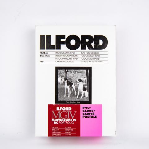 Фотобумага Ilford MGIV RC Portfolio Glossy для открыток, 10х15 см, 100 листов