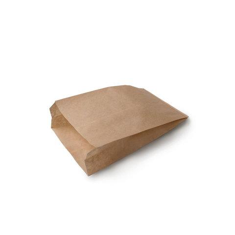 Бумажный пакет с плоским дном, 140*60*250 мм, крафт