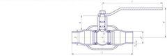 Конструкция LD КШ.Ц.П.300.025.П/П.02 Ду300 полный проход с редуктором