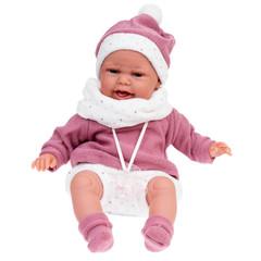 Munecas Antonio Juan Кукла Леонора в темно-розовом, озвученная (детский лепет), 34 см (7048)