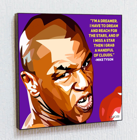 Картина постер Майк Тайсон 2 в стиле ПОП-АРТ