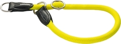 Ошейник-удавка для собак Hunter Freestyle Neon 55/10, нейлоновая, желтый неон