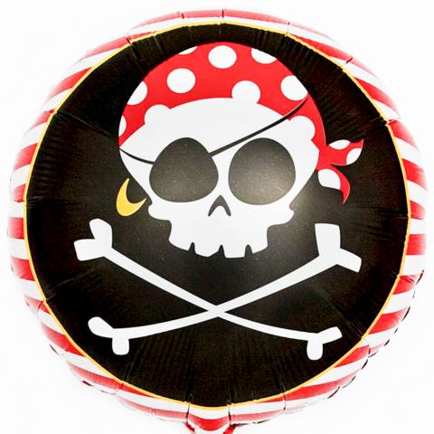 Фольгированный круг Пираты