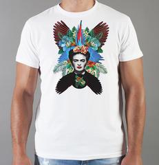 Футболка с принтом Фрида Кало (Frida Kahlo) белая 001