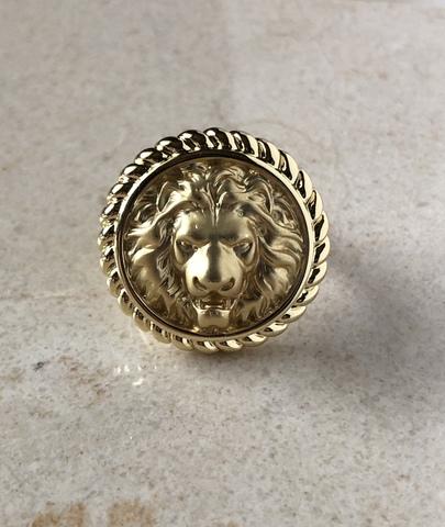 Кольцо Лайон, позолота